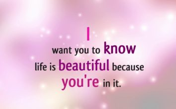 #1.Oct Life is beautiful because you're in it!